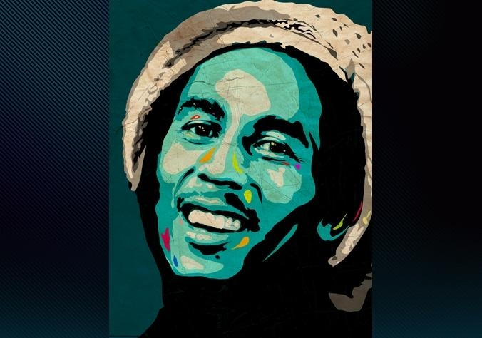 Limited Edition Bob Marley Canvas Print Form Ciaran Monaghan Art Regarding Bob Marley Canvas Wall Art (Image 15 of 20)