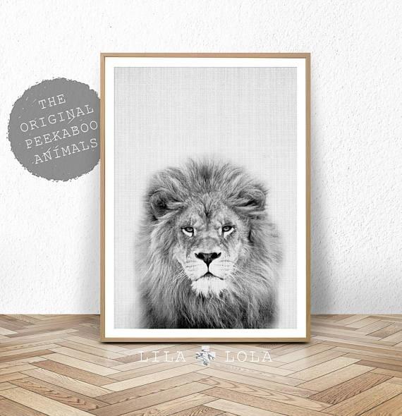 Lion Print Safari Nursery Animal Wall Art Baby Shower Decor With Regard To Animal Wall Art (View 15 of 20)
