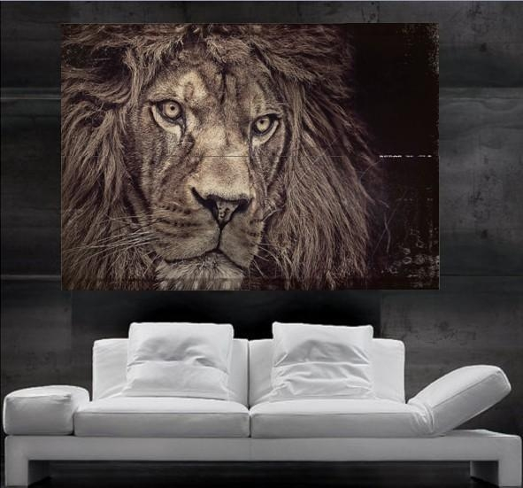 Lion Wall Art Design Inspiration Lion Wall Art – Home Decor Ideas Throughout Lion Wall Art (Image 12 of 20)