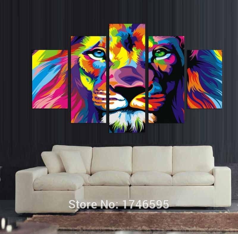 Lion Wall Art Pictures Of Photo Albums Lion Wall Art – Home Decor Inside Vibrant Wall Art (View 6 of 20)