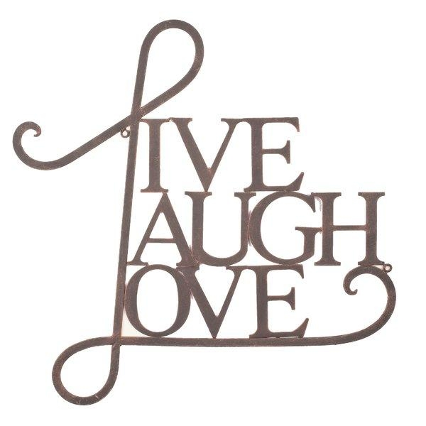 Live Laugh Love Metal Wall Decor | Wayfair With Regard To Live Love Laugh Metal Wall Decor (Image 9 of 20)