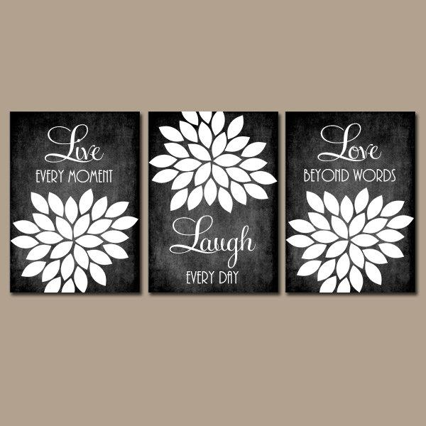 Live Laugh Love Wall Art Chalkboard Quote Kitchen Wall Art Inside Black Love Wall Art (View 9 of 20)