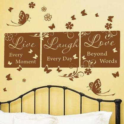 Live Laugh Love Wall Art New Wall Art Decals On Metal Wall Art Within Live Laugh Love Wall Art Metal (Image 15 of 20)