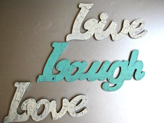 Live Laugh Love Wall Art | Roselawnlutheran Inside Wooden Words Wall Art (View 2 of 20)