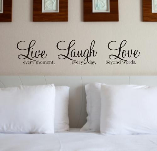 Live Laugh Love – Wall Art Sticker Wall Quote – Wa088X With Regard To Love Wall Art (Image 10 of 20)