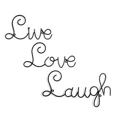 Live Love Laugh Set 3 Wall Mount Metal Wall Word Sculpture Wall Within Live Love Laugh Metal Wall Decor (Image 14 of 20)
