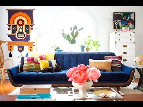 Living Room Ideas With Navy Blue Sofa – Youtube Regarding Living Room With Blue Sofas (Image 18 of 20)