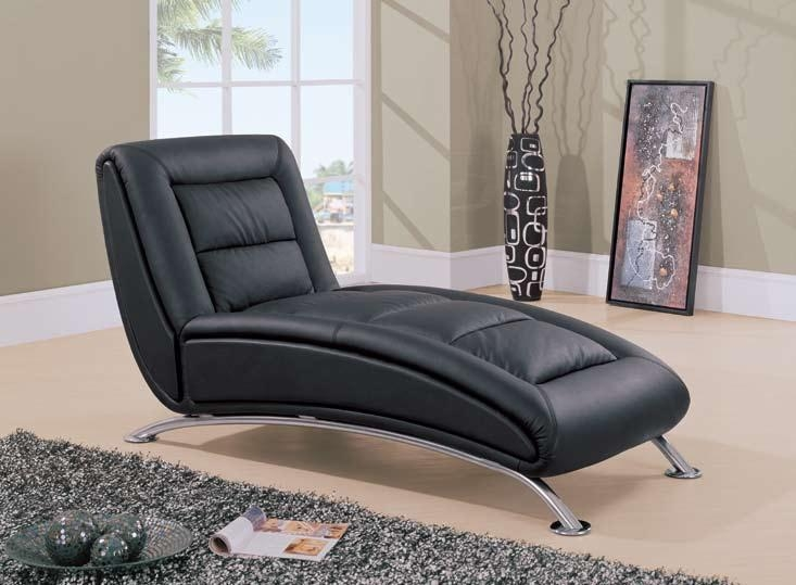 Living Room Stylish Black Leather Chaise Lounge Chair Sofa Whats Intended For Black Leather Chaise Sofas (View 15 of 20)