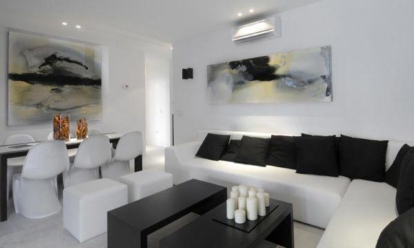 Living Room With Golden And Zin Sofa Set And Matching Abstract Regarding Matching Wall Art (Image 4 of 20)