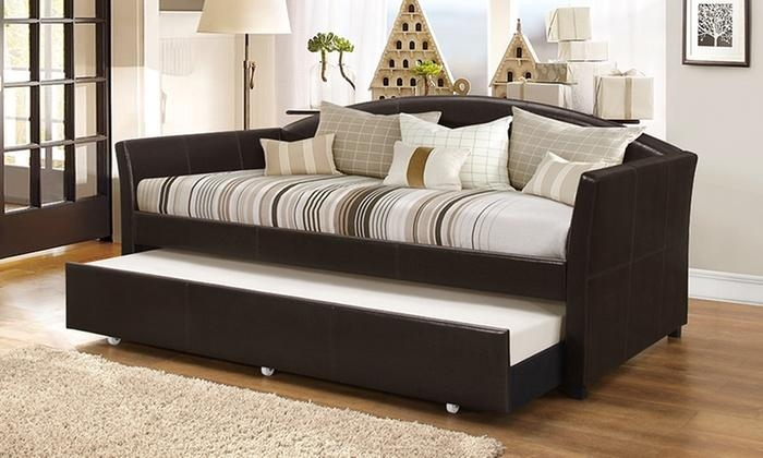London Arched Sofa Trundle Bed | Groupon Goods Regarding Sofa Beds With Trundle (Image 13 of 20)