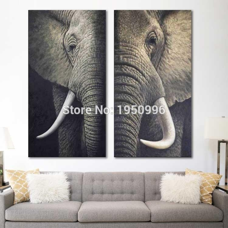 Long Canvas Wall Art Nonsensical 3 Piece Painting Set 4 | Gingembre (View 15 of 20)