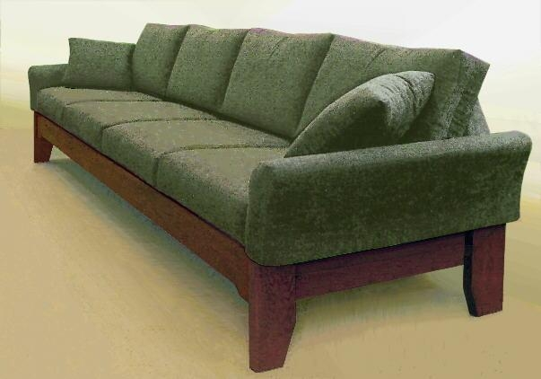 Long Sofas And Southwestern/mission/arts & Crafts Style Sofas With Shaker Sofas (Image 12 of 20)