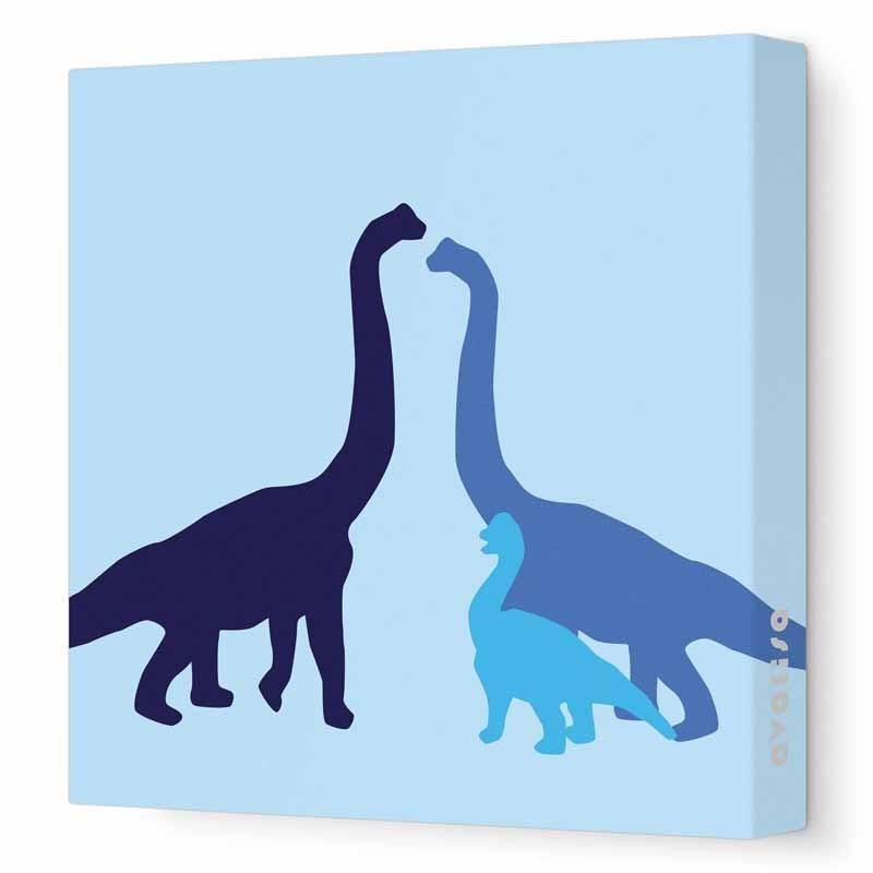 Longneck Dinosaur Canvas Wall Artavalisa – Rosenberryrooms Throughout Dinosaur Canvas Wall Art (View 6 of 20)