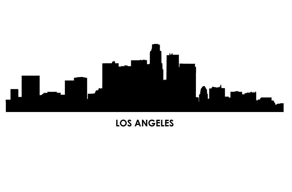 Los Angeles Cityscapes Vinyl Bedroom Wall Art With Los Angeles Wall Art (Image 9 of 20)