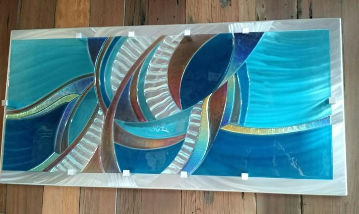 Louisiana Artist: Frank Thompson Creates Fused Glass Wall Art With Fused Glass Wall Art Hanging (Image 20 of 20)