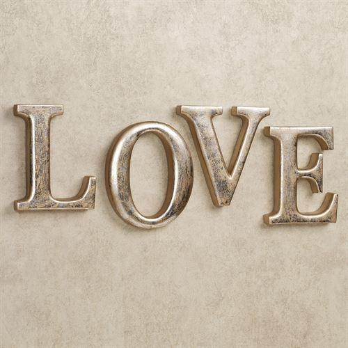 Love Letters Wall Word Art Set For Metal Word Wall Art (Image 12 of 20)