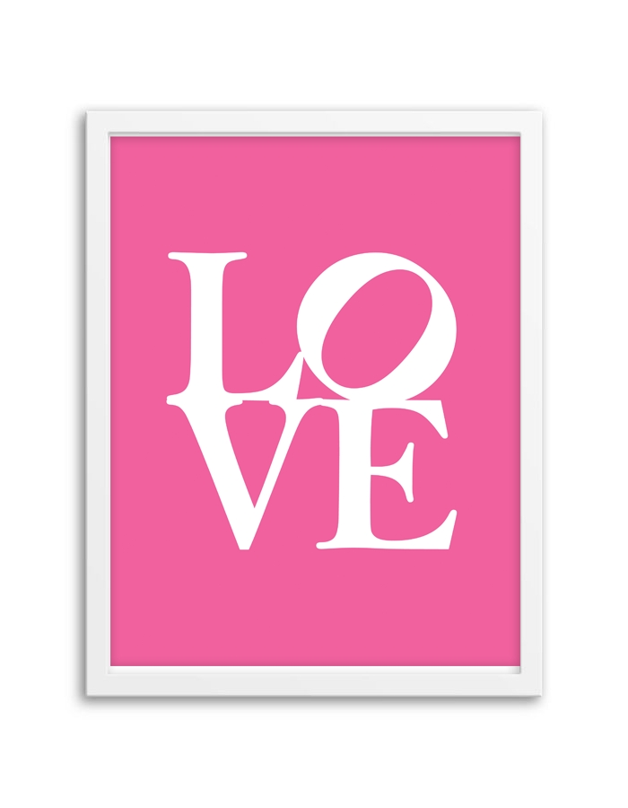 Love Wall Art – Chicfetti Decorate Pertaining To Love Wall Art (Image 13 of 20)