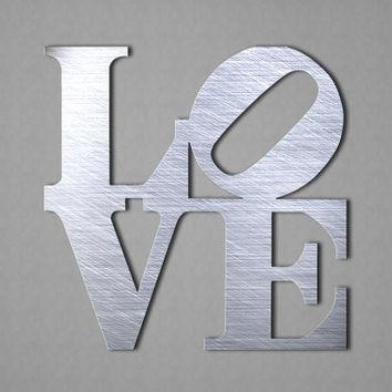 Love Wall Art – Love Metal Sign – Wall From Inspiremetals On Etsy In Love Wall Art (Image 12 of 20)
