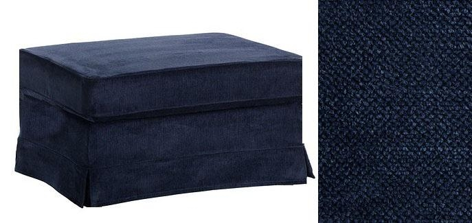 Lovely Navy Blue Ottoman Essex Ottoman West Elm – Interiorvues Throughout Navy Blue Slipcovers (Image 10 of 20)