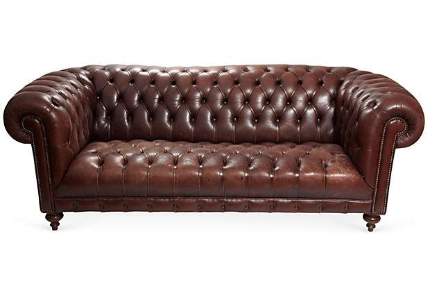 Lovely Tufted Brown Leather Sofa Brown Leather Tufted Sofa Nobis With Brown Leather Tufted Sofas (Image 15 of 20)