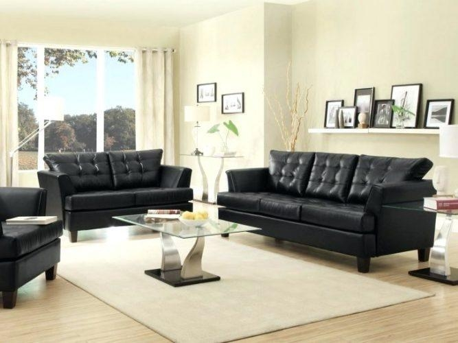 Loveseat ~ Simmons Black Leather Sofa And Loveseat Black Leather Intended For Black Leather Sofas And Loveseat Sets (Image 12 of 20)