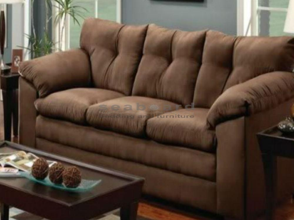 Luna Chocolate Microfiber Sofa And Loveseat Set 6565 With Simmons Microfiber Sofas (Image 11 of 20)