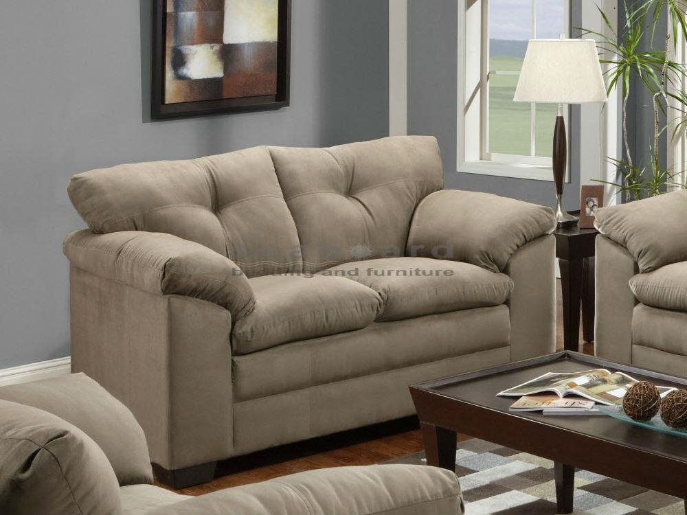 Luna Mineral Microfiber Sofa And Loveseat Set 6565 Pertaining To Simmons Microfiber Sofas (Image 12 of 20)