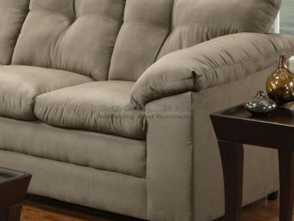 Luna Mineral Microfiber Sofa And Loveseat Set 6565 Throughout Simmons Microfiber Sofas (Image 13 of 20)