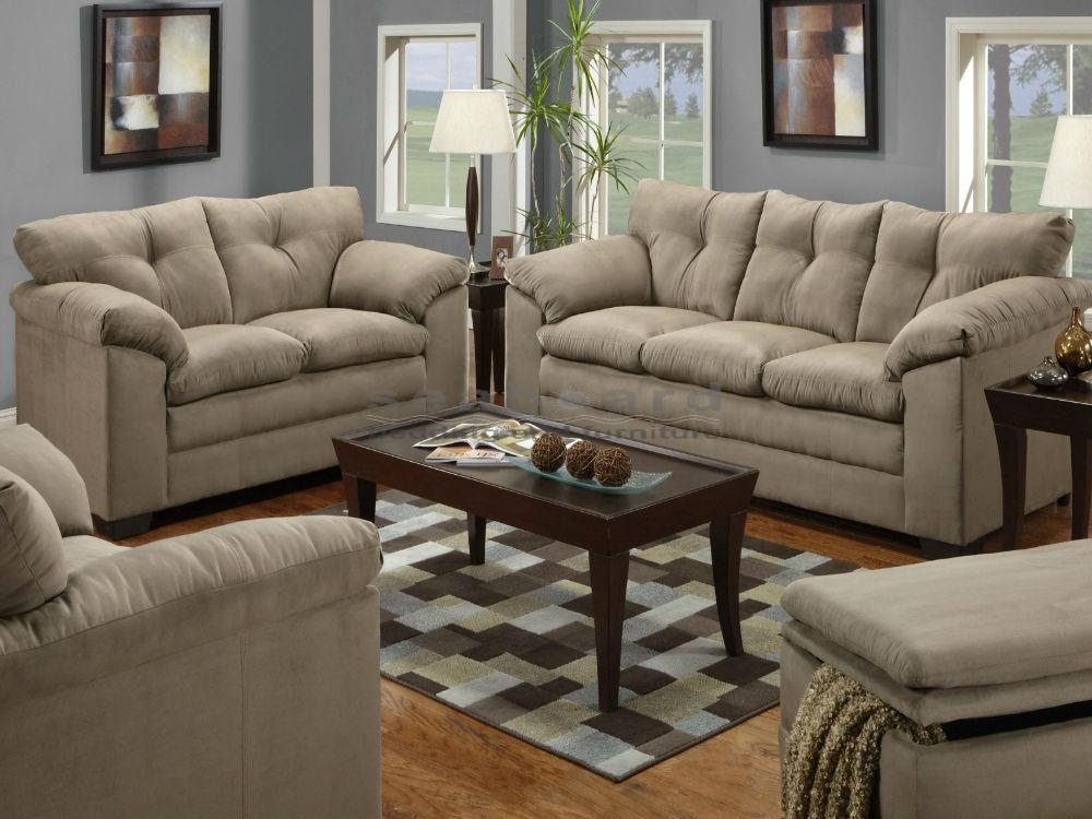 Luna Mineral Microfiber Sofa And Loveseat Set 6565 With Regard To Simmons Microfiber Sofas (Image 14 of 20)