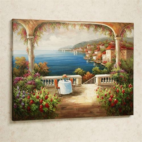Lunch With A View Handpainted Canvas Art Throughout Multi Canvas Wall Art (Image 13 of 20)