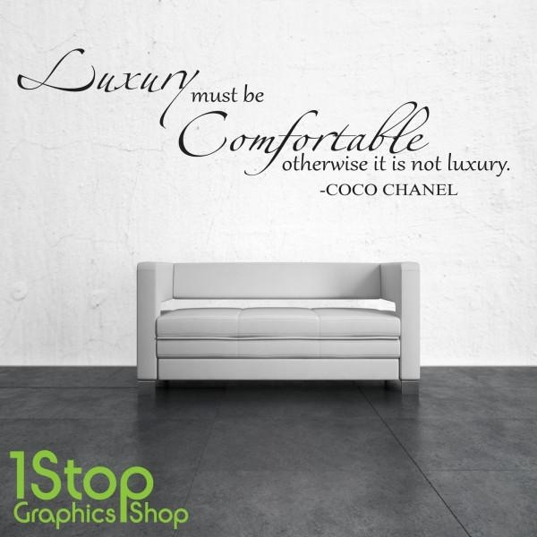 Luxury Must Be Comfortable Coco Chanel Wall Sticker Quote – Wall Within Coco Chanel Wall Decals (Image 14 of 20)