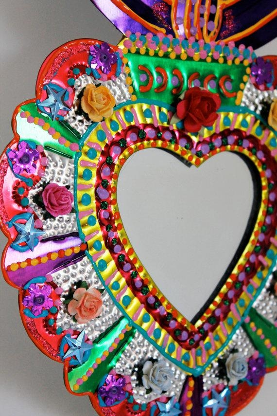 M Folk Art Mexican Tin Hearts – Lessons – Tes Teach Regarding Mexican Metal Art (View 6 of 20)
