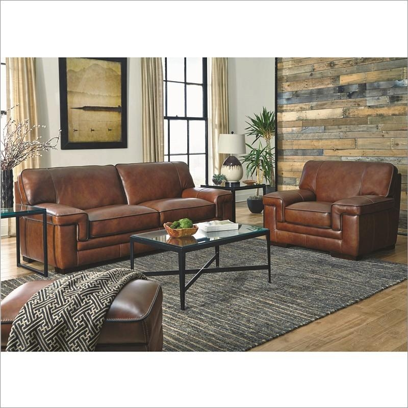 Macco Leather Loveseat In Chestnut Brownsimon Li Furniture With Simon Li Loveseats (Image 5 of 20)