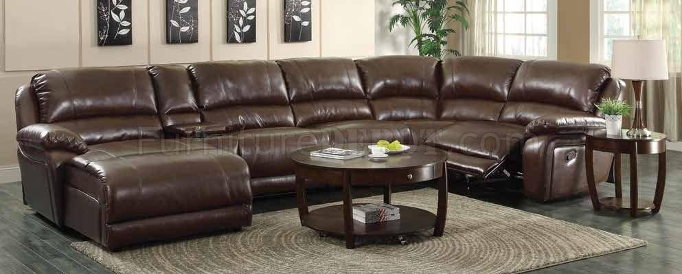 Mackenzie 600357 6Pc Motion Sectional Sofa Chestnutcoaster With Coaster Sectional Sofas (Image 12 of 20)