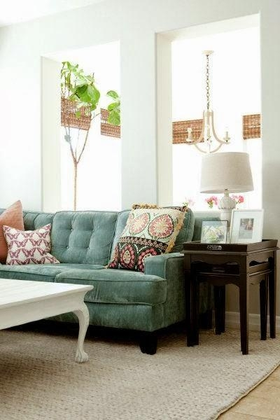 Magic On Main Street: Every Day Whimsy: A Velvet Sofa Dilemma With Seafoam Green Couches (Image 11 of 20)