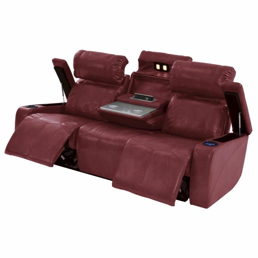 Magnetron Red Power Motion Sofa | El Dorado Furniture Pertaining To Slipcover For Reclining Sofas (View 19 of 20)