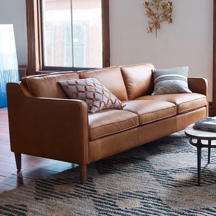Magnificent Camel Color Leather Sofa Camel Color Leather Sofa With Camel Color Leather Sofas (Image 16 of 20)
