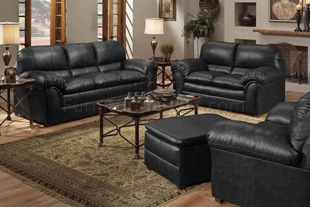 Magnificent Leather Sofa And Loveseat Set Anondale Acme Top Grain Throughout Black Leather Sofas And Loveseats (Image 16 of 20)