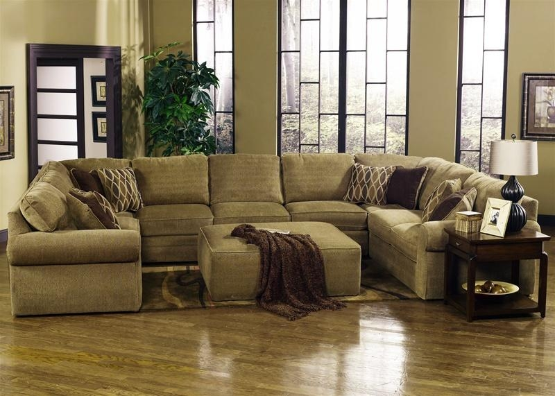 Magnitude 5 Piece Sectional In Desert Chenille Fabricjackson Intended For Chenille Sectional Sofas (Image 14 of 20)