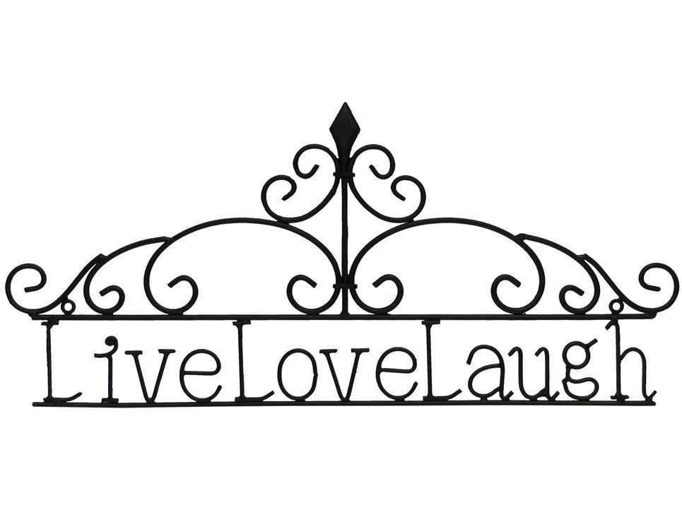 Mahogany Live Love Laugh Metal Wall Decor Shop Hob Lob Intended With Regard To Live Love Laugh Metal Wall Decor (Image 17 of 20)