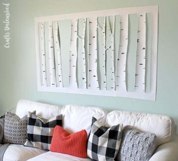 Make Aspen Tree Wall Art – Dollar Store Crafts Within Aspen Tree Wall Art (View 7 of 20)