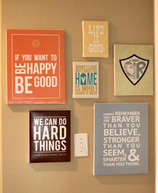 Make Diy Quote Art On Canvas – Mod Podge Rocks Throughout Inspirational Sayings Wall Art (Image 17 of 20)