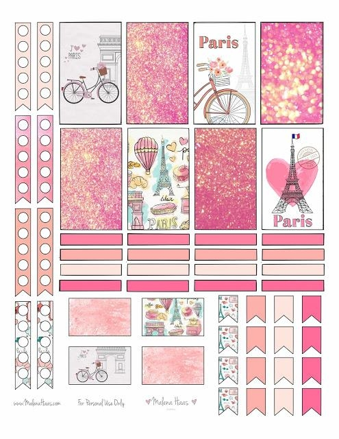 Malena Haas: ❤Freebie Friday❤ Paris Themed Planner Stickers With Paris Themed Stickers (View 15 of 20)