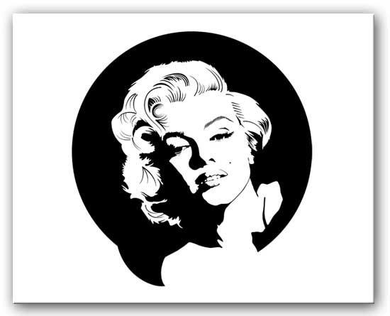 Marilyn Monroe – Black And White Canvas Regarding Marilyn Monroe Black And White Wall Art (Image 12 of 20)