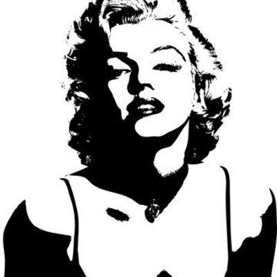 Marilyn Monroe Silhouette Version 4 Vinyl Wall Art Decal For Marilyn Monroe Black And White Wall Art (Image 18 of 20)