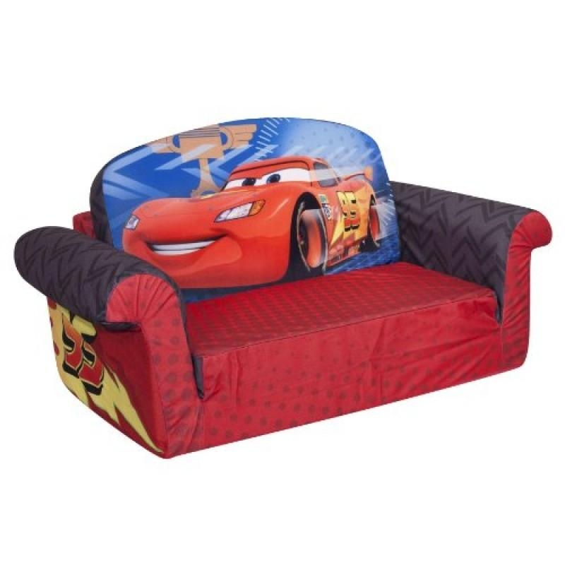 Marshmallow Childrens Furniture 2 In 1 Flip Open Sofa  Disney Cars 2 3 800X800 With Regard To Flip Open Kids Sofas (Image 16 of 20)