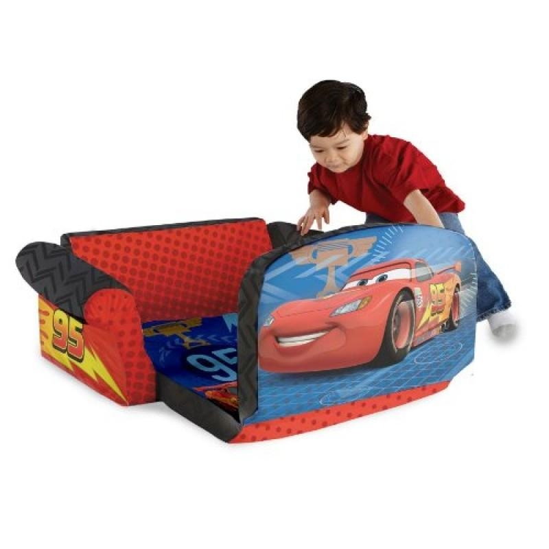Marshmallow Childrens Furniture 2 In 1 Flip Open Sofa  Disney Cars 2 4 800X800 With Flip Open Kids Sofas (Image 17 of 20)
