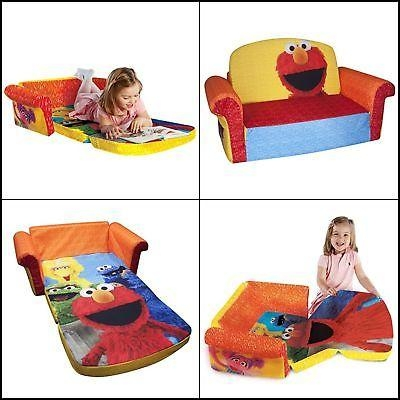 Marshmallow Furniture Elmo/sesame Flip Open Sofa • $ (Image 16 of 20)