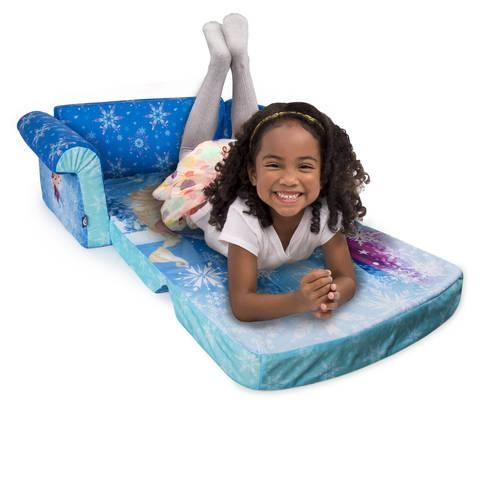 Marshmallow Furniture Flip Open Sofa – Disney Frozen : Target Pertaining To Flip Open Sofas For Toddlers (Image 12 of 20)