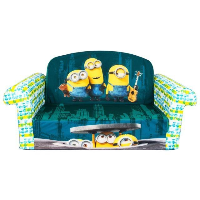 Marshmallow Furniture Flip Open Sofa Minions 2In1 Character Kids Within Elmo Flip Open Sofas (Image 19 of 20)